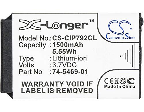 CS 1500mAh Li-ion Akku Passend für Cisco 7026G 7926G 7925G-EX 74-5468-01 CP-7925G-A-K9 CP-7925G-EX-K9 CP-BATT-7925G-STD, ersetzt Cisco 74-5469-01 U8ZBAE12 Cisco Cp-batt