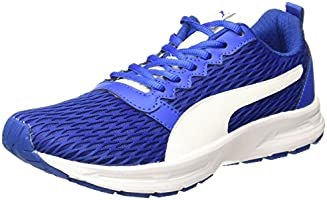 Puma Men's Fabian Lapis Bluewhite Running Shoes - 11 UK/India (46 EU) (19101501)