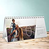 Foto Kalender drucken, Quer durchs Jahr Tischkalender, Aufstellkalender 260x120 mm, Fotokalender 2018