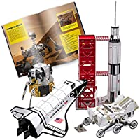 CubicFun National Geographic Kids Space Shuttle 3D Puzzle Game Educational Gift Toys with Booklet for children