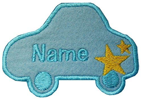 Auto love2embroider auf/Eisen auf Name Badge Patch Sew on(permanent solution) blau