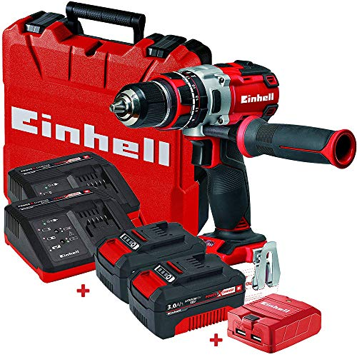 Set taladro sin cable Einhell TE-CD 18V Li 60N.m +