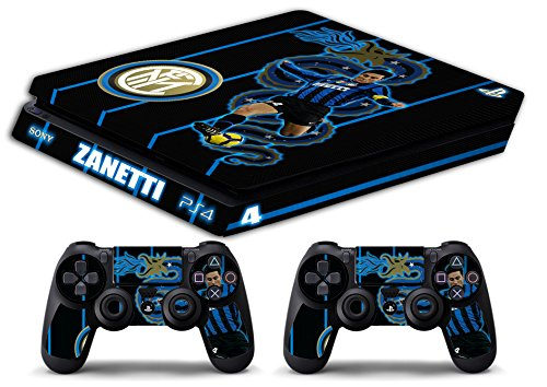 Skin Ps4 SLIM - FC INTER ULTRAS ZANETTI CALCIO - limited edition DECAL COVER ADESIVA Playstation 4 Slim SONY BUNDLE