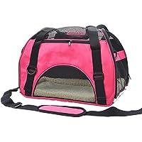 Pet Cuisine Transporttasche für Hunde Katze Transportbox Faltbar Tragetasche Haustier Reise Hundetasche Pink