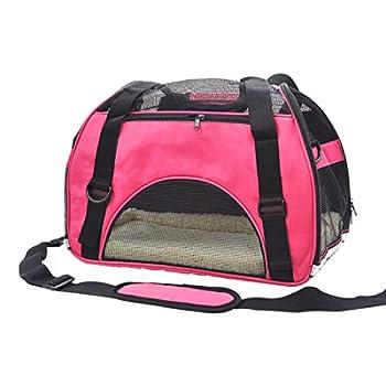 Pet Cuisine Sac à main de transport avec intérieur doux et respirable pour chien et chat Rose M