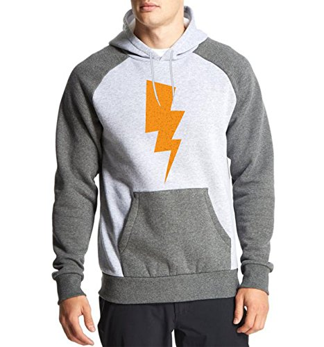 Fanideaz Cotton Full Sleeves Thunder Lightening Big Bang Theory Tees Raglan Hoodies for Men Premium Sweatshirt_Charcoal Melange_XL