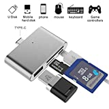 Hub Adapter SD Card Reader, ybee Super Dünn usb3.1 OTG der U89 Adapter für CF/SD/TF/Micro SD, Apple Mac Book/Samsung Galaxy S7/S7 Edge/S8/S8 Plus/Note 8, LG Android Smartphone & Tablet