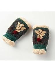 Longless Colegialas de invierno guantes sin dedos de lana guantes sin dedos
