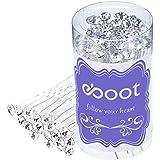 40 Pezzi Bianco Fermagli per Capelli Cristallo Strass Capelli Capelli Clip di Matrimonio con Sacchetto di Stoccaggio