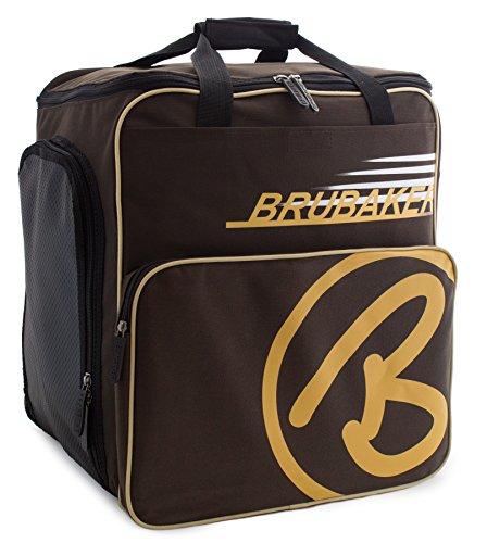 BRUBAKER Skischuhtasche Helmtasche Skischuhrucksack Super Champion Braun Sand - Limited Edition -