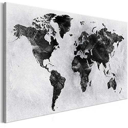 Murando - Cuadro Lienzo sintético Mapa Mundo 90x60