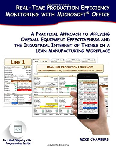 Real-Time Production Efficiency Monitoring with Microsoft Office: A Practical Approach to Applying Overall Equipment Effectiveness and the Industrial of Things in a Lean Manufacturing Workplace