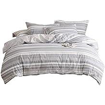 Umi. Essentials Bettbezugsset mit einem Kissenbezug aus reiner, garngefärbter Seersucker-Baumwolle,135x200+80x80cm