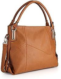 Women Handbags, Women Bag, Large Shoulder Bag Zipper Pocket Kingh Tote Bags Pu Leather 009 Brown
