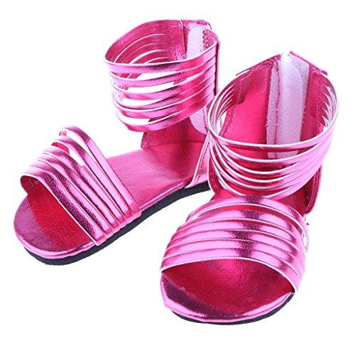Sharplace Mode Puppen Sommer Sandalen Schuhe aus PU-Kunstleder für 18
