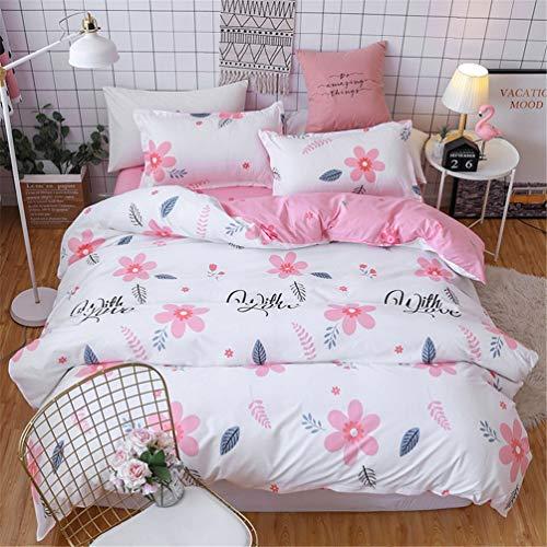 Jwans 3/4 stücke Bettwäsche Baumwolle Bettlaken Cartoon Geometrische Muster Bettbezug mit Kissenbezug Bettdecke Set