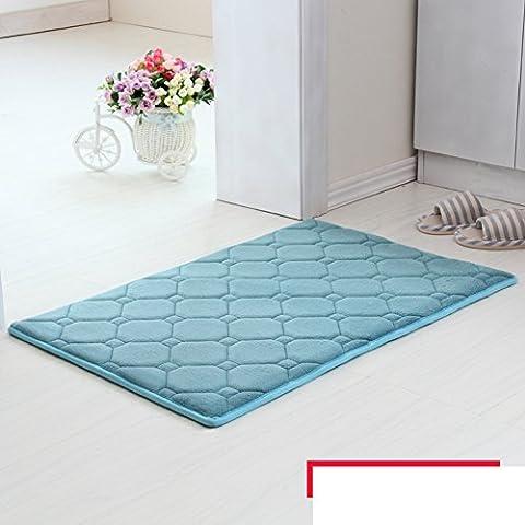 Speicher baumwolle matte badezimmer wohnzimmer küche wasser absorption nicht-slip mat-E 90x120cm(35x47inch)