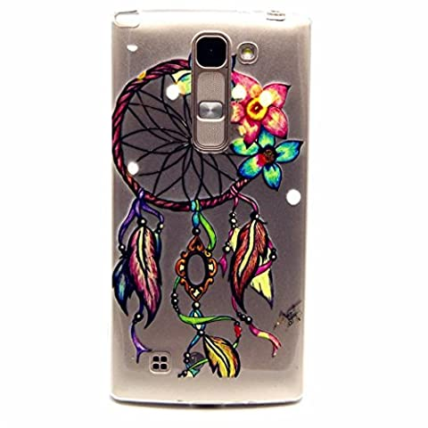 MUTOUREN LG Spirit 4G LTE H420 H422 H440N C70 case cover flexible soft extream thin Durable Creative Multi Colored Pattern Design Full coverage pattern images-Dreamcatcher colorful flower