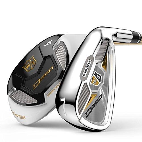 Wilson Staff Damen Golf-Set, Sechs Golfschläger, Rechtshand, D350, Ladies' Flex, graphit, WGR167830