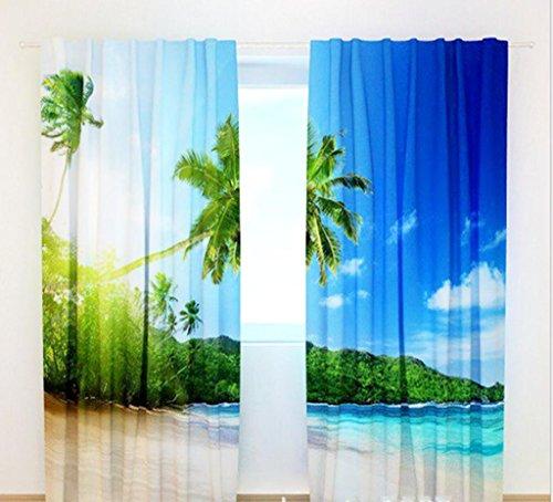 GFYWZ Tenda in tessuto stampa 3D Home Decor spessore isolamento finestra oscuranti , 2 , wide 3.0x high 2.7