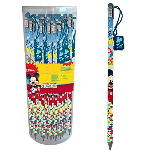 AstroEuropa Expositor con 24 lápices Gigantes con Navaja (Mickey Mouse Club House)