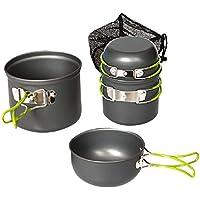 SaySure - Outdoor Camping Pan Pot Saucepan Cookware 4 Sets