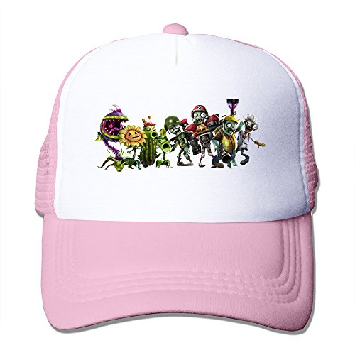 MFSH Pflanzen Vs Zombies Garden Warfare Unisex bis Verstellbar Truck Hat Trucker Cap, Eine Größe Passend für die Meisten Mesh Hat. (Truck Rosa)
