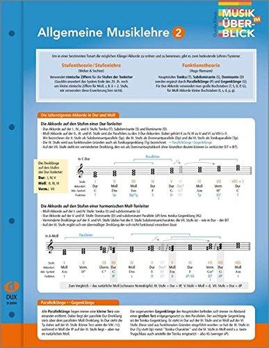"""Allgemeine Musiklehre 2 """"Musik im Überblick"""": aus der Reihe """"Musik im Überblick"""""""