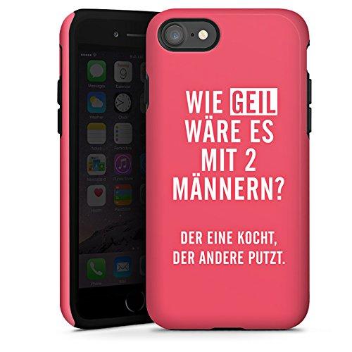 Apple iPhone X Silikon Hülle Case Schutzhülle Frauen Humor Sprüche Tough Case glänzend