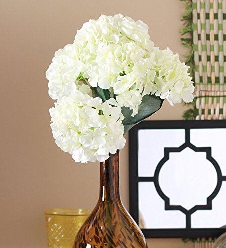 Fourwalls Artificial Polyester Hydrangea Bouquet (24 cm x 24 cm x 54cm,...