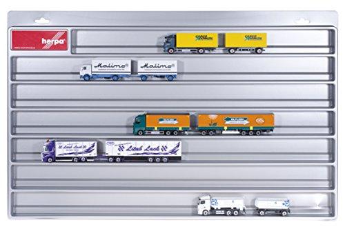 Herpa 029728 - LKW Schaukasten Hängerzüge, Fahrzeuge, Silber