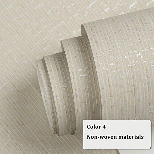 Einfache Farbe einfarbig gestreifte Vliestapete einfache moderne Wohnzimmer Studie Schlafzimmer Tapete TV Hintergrundbild 10 Farben (Color : Color 4)