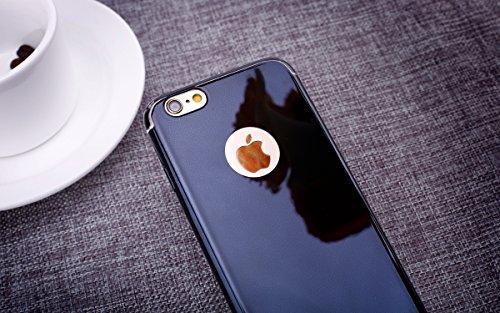 iPhone 6S Plus Étui Rigide,iPhone 6 Plus Coque Cristal Clair,JAWSEU Luxe Mode Placage Miroir Coque Housse Bling Brillant Sparkle Coque Mat Désign Ultra Slim Mince Crystal Miroir Hard Case Coquille de  noir/hard