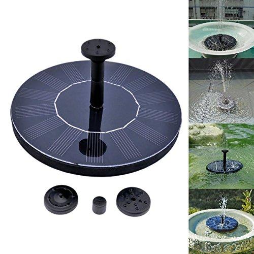 Výsledok vyhľadávania obrázkov pre dopyt For Pools Garden Ponds Solar Powered Water Panel Power Fountain Pump Outdoor