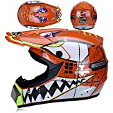 HGOOD-KK Casque de Moto pour Enfant Motocross Cross Off-Road Noir Mat ATV Quad...