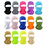 Draussen Gesicht Maske mit Fahrradhaube,Sport Reitmaske Fahrradmaske CS Tactical Flying Tiger Hut Atmungsaktive Sonnenblende Winddicht Motorrad Sport Hood Riding Maske (All color 15pcs packed)