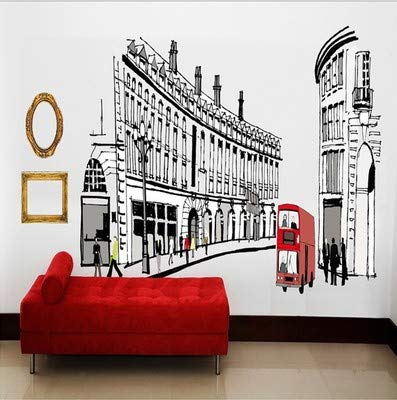 Schmuck, große Idee, Wandmalerei, Wandmalerei, Schlafzimmer, Rom Street, Oversize