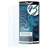 Bruni Schutzfolie kompatibel mit Oukitel K10000 Pro Folie, glasklare Bildschirmschutzfolie (2X)