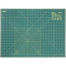 Olfa RMSG - Plancha de corte de 1,5 mm de espesor, color verde, escala en pulgadas (60 x 45 cm)