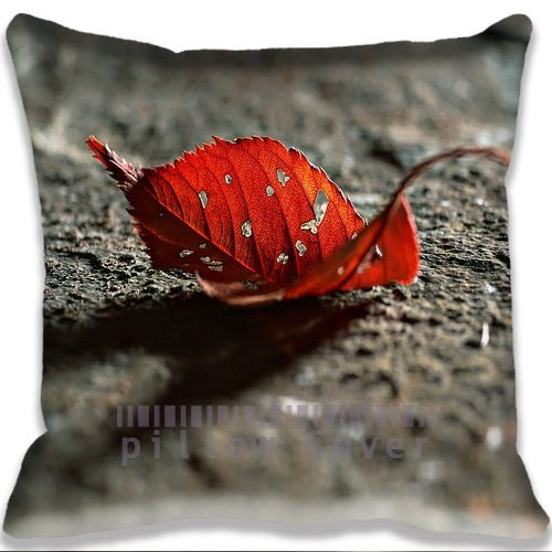nature Red Autumn Leaf Cushion Cover Home