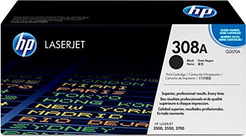 HP 308A (Q2670A) Schwarz Original Toner für HP Color Laserjet 3550 (Druckkassette 3500)