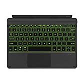 Vacally Ultra-Thin Colorful Backlit Bluetooth Keyboard with Touchpad Magnetic Wireless Rechargeable Sensitive Keyboard