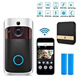 Drahtlose Video-Doorbell Kamera, HD 720P WiFi Security Wasserdichte Smart Doorbell Camera, Real-Time Two-Way Talk und Video, Night Vision, 2pcs Batterien