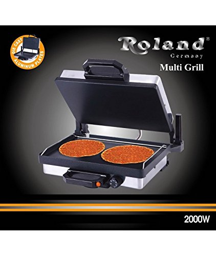 ROLAND Multigrill Tischgrill Elektrogrill Kontaktgrill Lahmacun Toaster 2000W