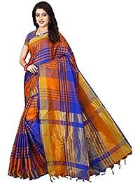 Dhruvi Trendz Women's Bhagalpuri Silk Solid Saree With Blouse Piece Material