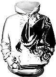AureQet Herren Unisex Realistische 3D Galaxy Kapuzen Pullover Digitaldruck Sweatshirt Weihnachten Langarm Winter Hoodie, Der Kleine Teufel, Größe XXL / 3XL ( Brustumfang: 128-148CM )