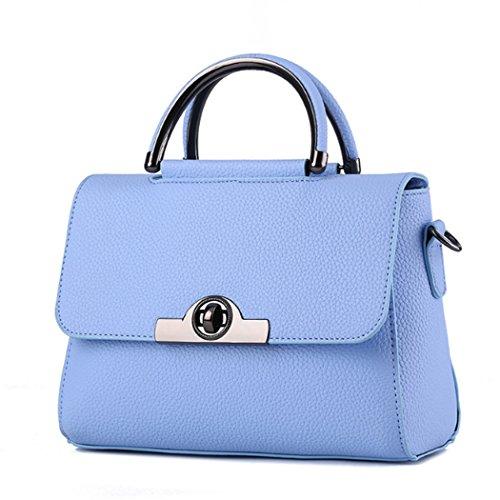 Borsa della borsa della borsa di Tote del sacchetto di spalla della nuova borsa delle donne Azzurro