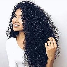 100% humano de la Virgen humana Glueless Lace frente Kinky Curly Lace peluca con el pelo del bebé