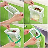 Hanging Kitchen Cupboard Cabinet Tailgate Stand Storage Garbage Bag Holder Hanging Bags Trash Rack
