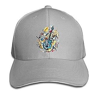 ferfgrg Unisex Snapback Hip Hop Flat Hat Outdoor Caps Musical Instruments Classic Adjustable HI213